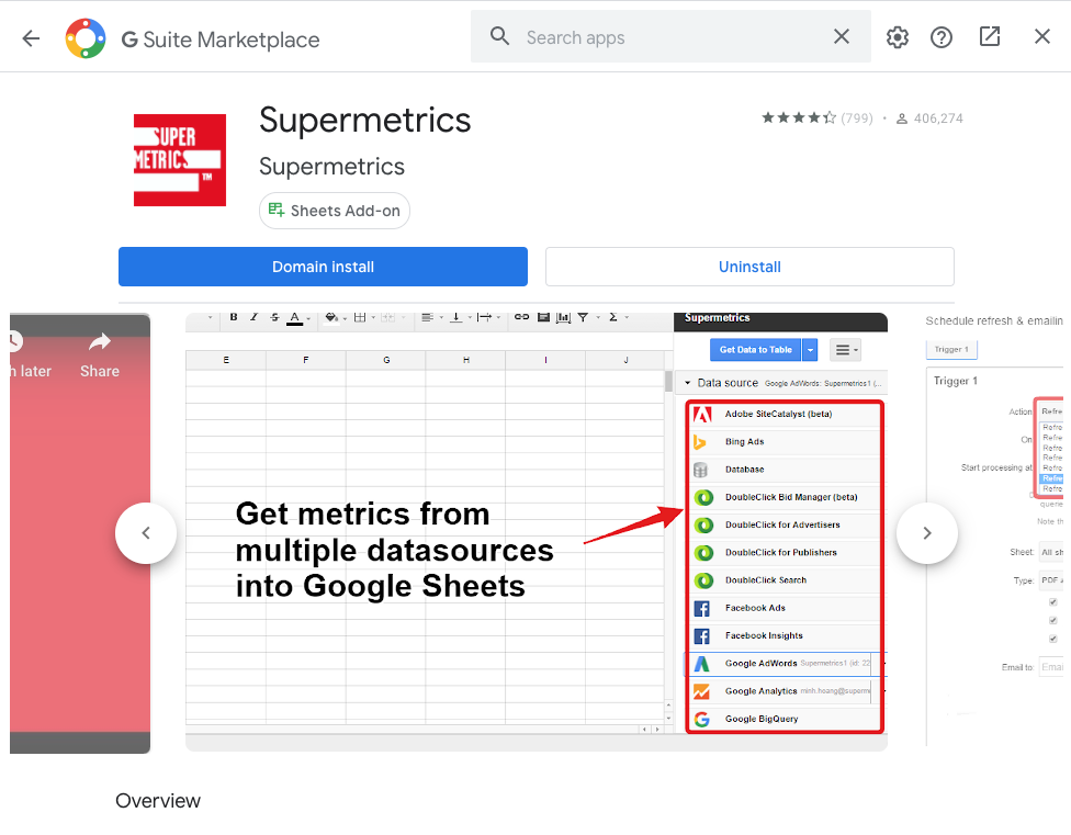 OKR template in Google sheets